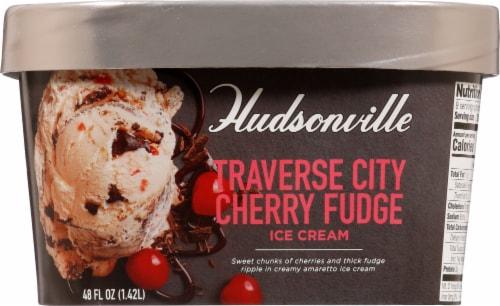 Hudsonville Premium Traverse City Cherry Fudge Ice Cream Perspective: back