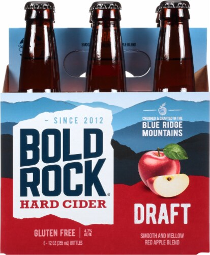 Bold Rock Virginia Draft Amber Apple Cider Perspective: back