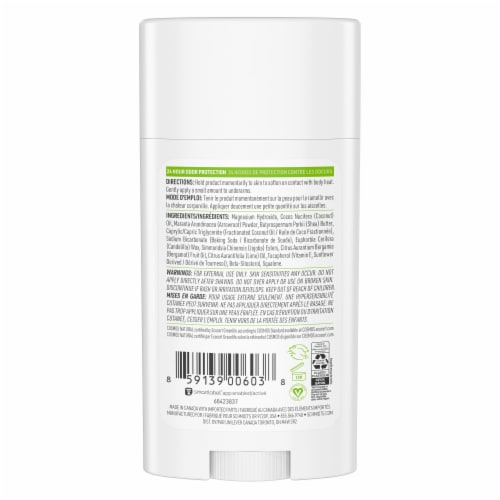 Schmidt's Bergamot & Lime Natural Deodorant Stick Perspective: back