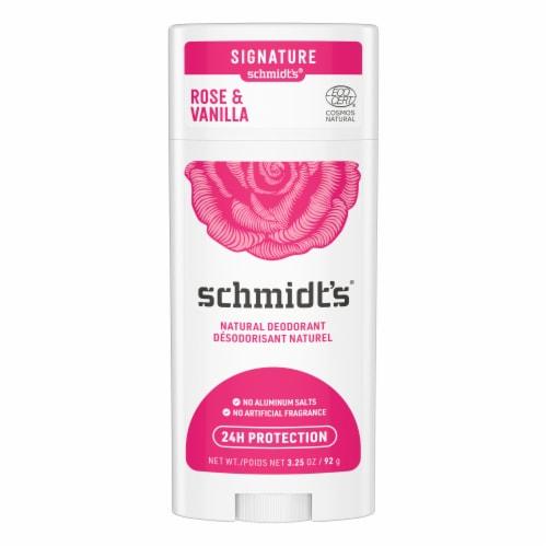 Schmidt's Rose + Vanilla Natural Deodorant Perspective: back