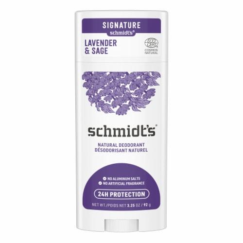 Schmidt's Lavendar & Sage Deodorant Spray Perspective: back