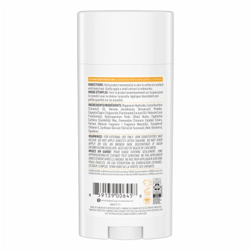 Schmidt's Coconut Pineapple Sensitive Skin Formula Aluminum Free Natural Deodorant Perspective: back