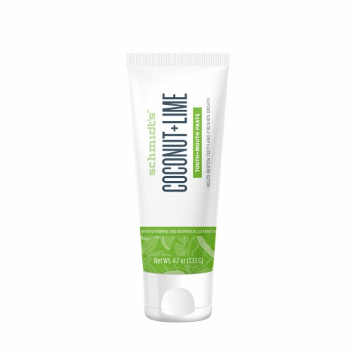 Schmidt's Coconut + Lime Toothpaste Perspective: back