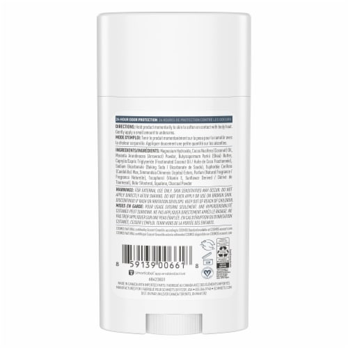 Schmidt's Charcoal & Magnesium Mineral Enriched Natural Deodorant Stick Perspective: back
