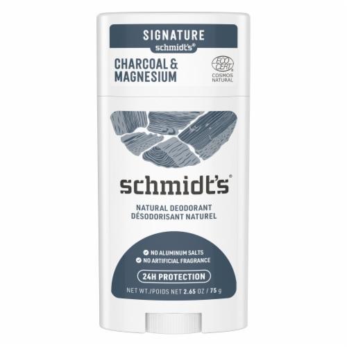 Schmidt's Aluminum-Free 24-Hour Odor Protection Charcoal & Magnesium Vegan Natural Deodorant Stick Perspective: back