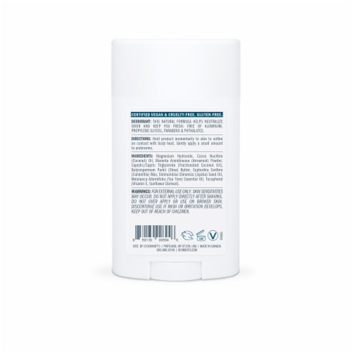 Schmidt's Sensitive Skin Tea Tree Aluminum Free Natural Deodorant Perspective: back