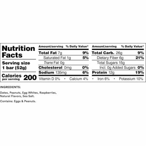 RXBAR Peanut Butter & Berries Protein Bar Perspective: back