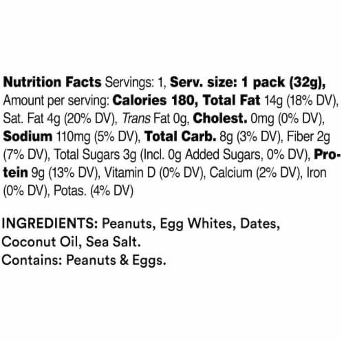 RXBAR Peanut Butter Nut & Protein Spread Perspective: back