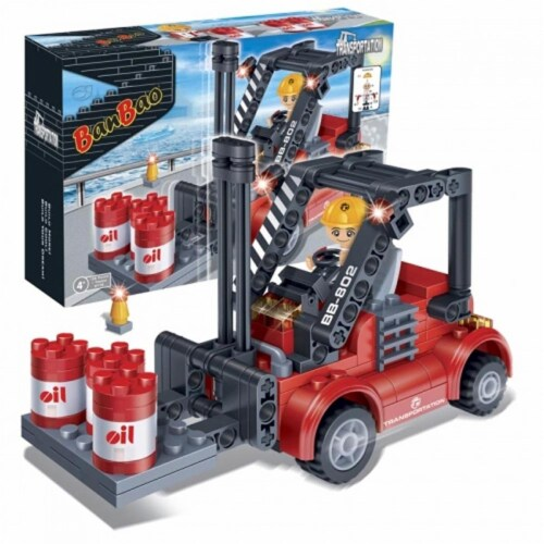 BanBao Interlocking Blocks Forklift 8778 (128 Pcs) Perspective: back