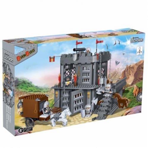 BanBao Interlocking Blocks Black Sword Prison Building Set (705 Pieces & 6 Mini-Figures) Perspective: back