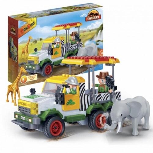 BanBao Interlocking Blocks Safari Jeep (248 Pieces) Perspective: back