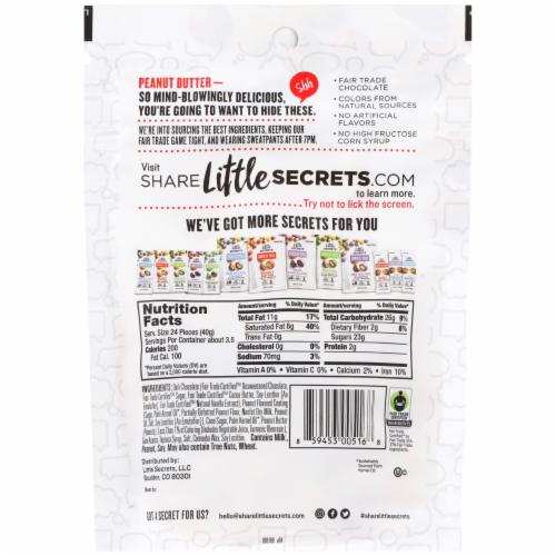 Little Secrets Dark Chocolate Peanut Butter Candies Perspective: back