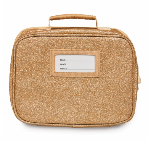 Bixbee Sparkalicious Lunchbox - Gold Perspective: back
