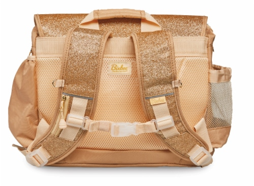 Bixbee Medium Sparkalicious Backpack - Gold Perspective: back