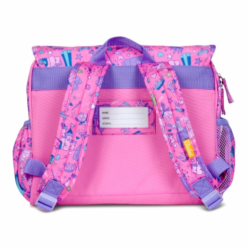 Bixbee Fairy Princess Backpack and Lunchbox Set Perspective: back