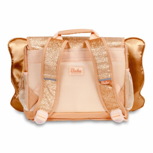 Bixbee Small Sparkalicious Butterflyer Backpack - Gold Perspective: back