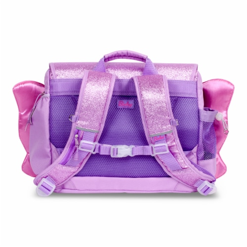 Bixbee Medium Sparkalicious Butterflyer Backpack - Purple Perspective: back