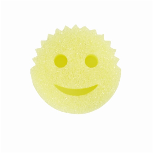 Scrub Daddy FlexTexture Scrubber Sponge - Yellow Perspective: back