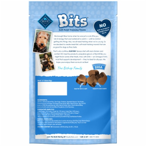 Blue Buffalo Bits Tasty Chicken Recipe Soft-Moist Training Treats Perspective: back
