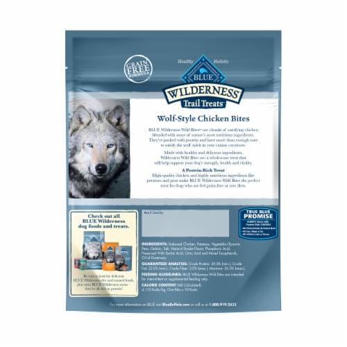 Blue Wilderness Trail Treats Wild Bites Chicken Recipe Dog Treats Perspective: back