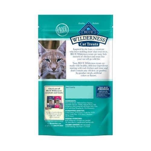 Blue Buffalo Wilderness Chicken & Trout Recipe Cat Treats Perspective: back