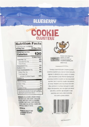 Crazy Monkey Baking Blueberry Granola Cookie Clusters Perspective: back