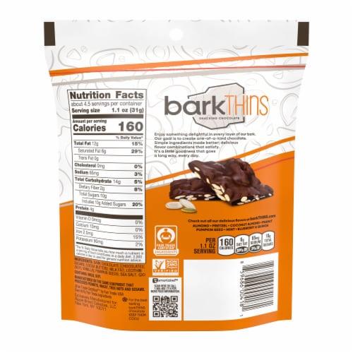 barkThins Dark Chocolate Pumpkin Seed & Sea Salt Snacking Chocolate Perspective: back
