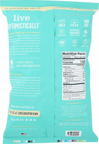 Live Love Pop Sea Salt & Vinegar Gourmet Popcorn Perspective: back