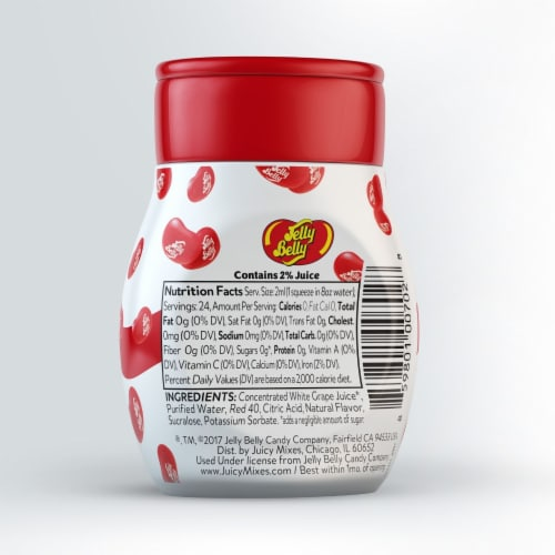 Jelly Belly Very Cherry Liquid Drink Mix Perspective: back