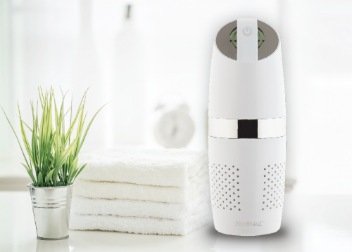 NuvoMed Portable Air Purifier with HEPA Filter Perspective: back