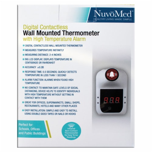 NuvoMed WMT-6/0929 Wall-Mounted Thermometer Perspective: back