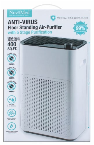 NuvoMed Anti-Virus Floor Standing Air-Purifier Perspective: back