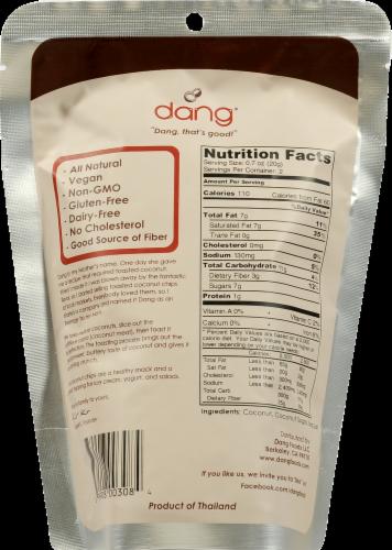 Dang Caramel Sea Salt Toasted Coconut Chips Perspective: back