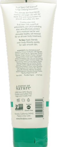 Andalou Naturals Cooling Aloe Mint Body Lotion Perspective: back