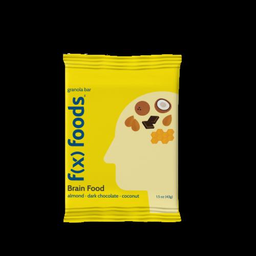 Brain Food - 12 pack gluten free, all-natural nutrition bar, granola bar, fx foods Perspective: back