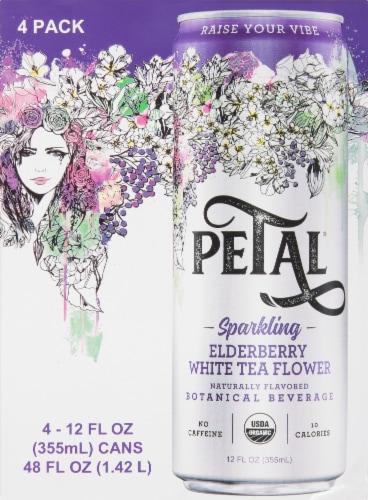 Petal Elderberry White Tea Flower Sparkling Water Perspective: back