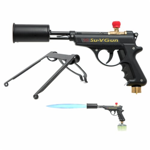 GrillBlazer SU-VGun Basic Propane Torch Gun for Outdoor Cooking and Grilling Perspective: back