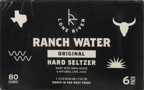 Lone River Ranch Water Original Hard Seltzer Perspective: back