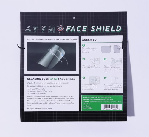 ATYM Glasses Face Shield Perspective: back