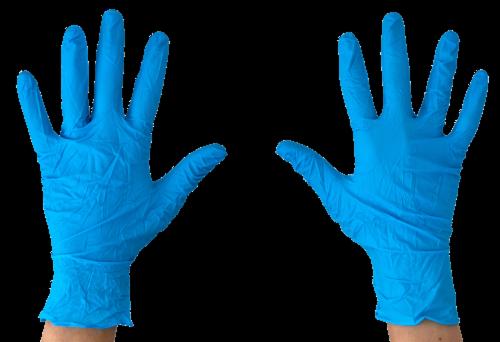 Nitrile Exam Glove , Powder Free, 100 ct (Medium) Perspective: back
