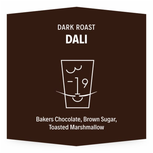 3-19 Coffee Dali Blend Dark Roast Ground Coffee Perspective: back