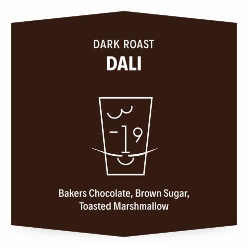 3-19 Coffee Dali Blend Dark Roast Whole Bean Coffee Perspective: back