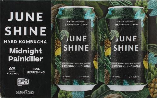 JuneShine Midnight Painkiller Hard Kombucha Perspective: back