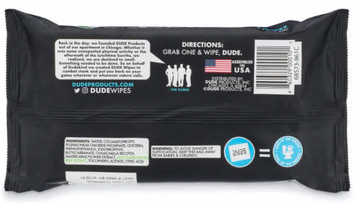 DUDE Wipes Fragrance Free Flushable Wipes Perspective: back