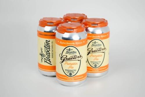 Braxton Limited Graeter's Pumpkin Pie Craft Beer Perspective: back