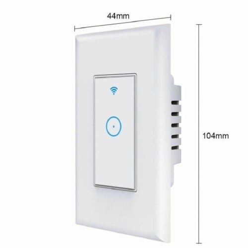 Smart Switch Wall Light WiFi Remote Compatible For Alexa & Google IFTTT Control Smart Life Perspective: back