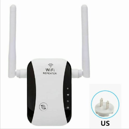 WiFi Range Extender Internet Booster Network Router Wireless Signal Repeater Perspective: back