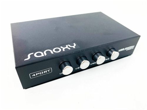 SANOXY 1 Input 4 Output 8P8C Manual RJ45 Network Sharing Switch Perspective: back