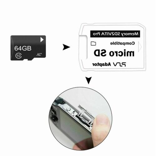 V7.0 SD2VITA Micro SD Support TF Memory Card 32GB 64GB 128GB 256GB For PSVita Perspective: back
