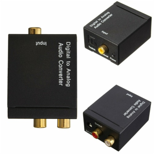 SANOXY Analog to Digital Audio Converter w/ Adapter Perspective: back
